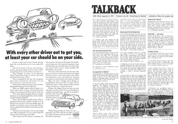 Article Preview: TALKBACK, December 1969 | Maclean's