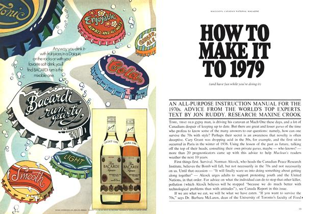 Article Preview: HOW TO MAKE IT TO 1979, January 1970 | Maclean's