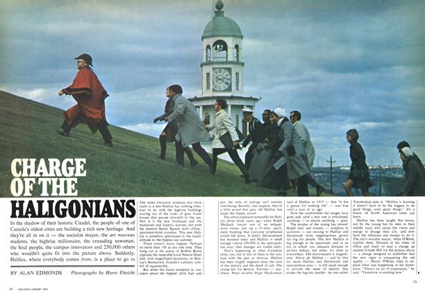 Article Preview: CHARGE OF THE HALIGONIANS, January 1970 | Maclean's