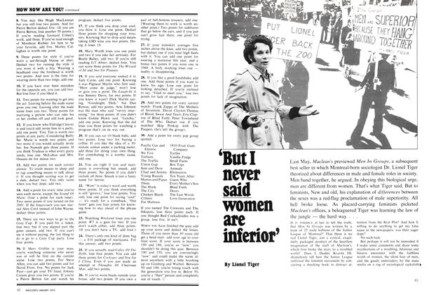 Article Preview: 'But I never said women are inferior', January 1970 | Maclean's