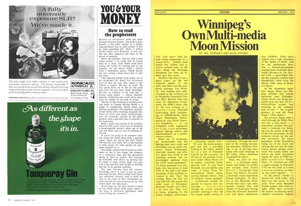 Article Preview: Winnipeg's Own Multi-media Moon Mission, January 1970 | Maclean's