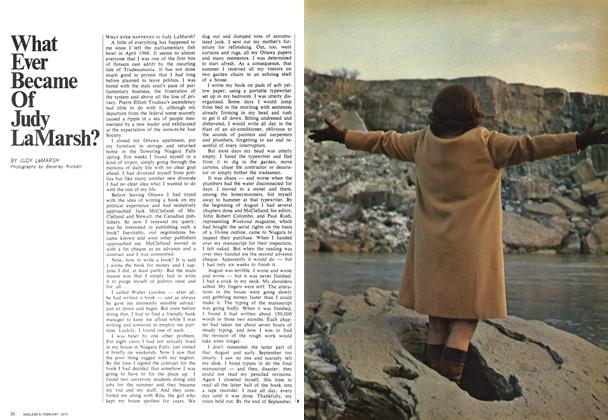 Article Preview: What Ever Became Of Judy LaMarsh?, February 1970 | Maclean's