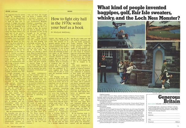Article Preview: How to fight city hall in the 1970s: write your beef as a book, February 1970 | Maclean's