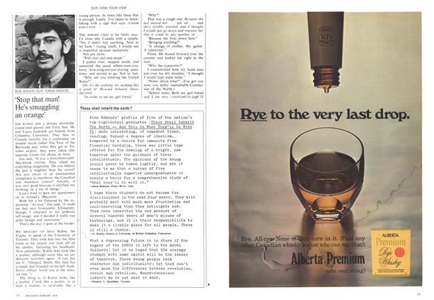 Article Preview: 'Stop that man! He's smuggling an orange', February 1970 | Maclean's