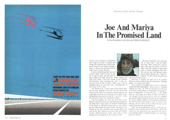 Article Preview: Joe  And Mariya In The Promised Land, March 1970 | Maclean's
