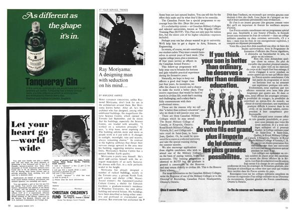 Article Preview: Ray Moriyama: A designing man with seduction on his mind..., March 1970 | Maclean's