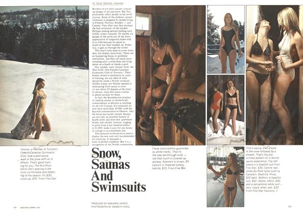 Article Preview: Snow, Saunas And Swimsuits, March 1970   Maclean's