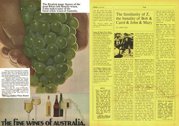 Article Preview: The familiarity of Z, the banality of Bob & Carol & John & Mary, March 1970 | Maclean's