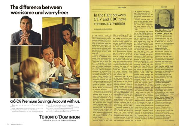 Article Preview: In the fight between CTV and CBC news, viewers are winning, March 1970 | Maclean's