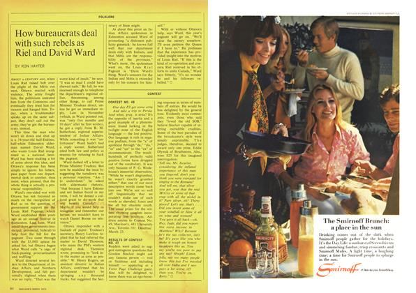 Article Preview: How bureaucrats deal with such rebels as Riel and David Ward, March 1970 | Maclean's