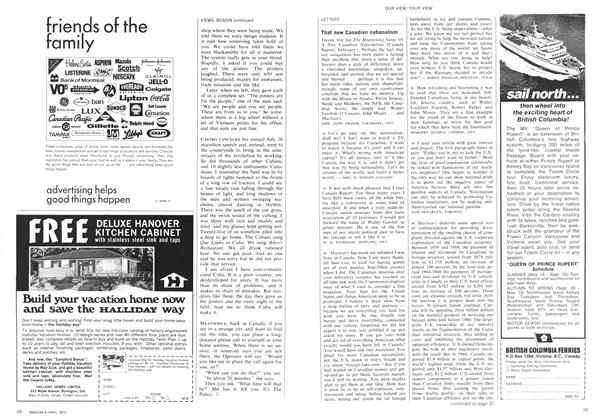 Article Preview: LETTERS, April 1970 | Maclean's