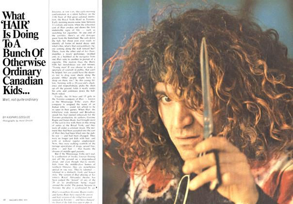 Article Preview: What 'HAIR' Is Doing To A Bunch Of Otherwise Ordinary Canadian Kids..., April 1970 | Maclean's