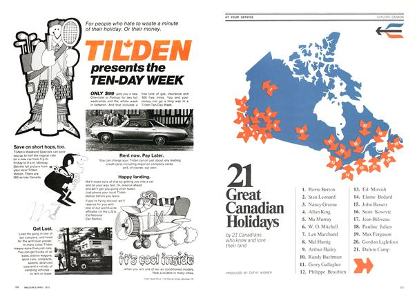 Article Preview: 21 Great Canadian Holidays, April 1970 | Maclean's