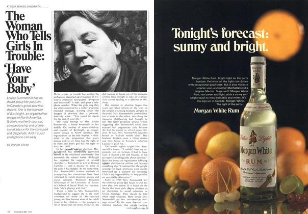 Article Preview: The Woman Who Tells Girls In Trouble: 'Have Your Baby', May 1970 | Maclean's