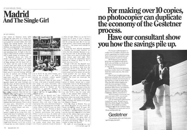 Article Preview: Madrid And The Single Girl, May 1970 | Maclean's