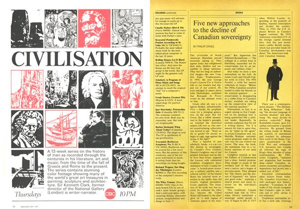 Article Preview: Five new approaches to the decline of Canadian sovereignty, May 1970 | Maclean's