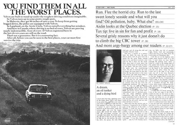 Article Preview: A dream, an oil tanker and a dying bird, May 1970 | Maclean's