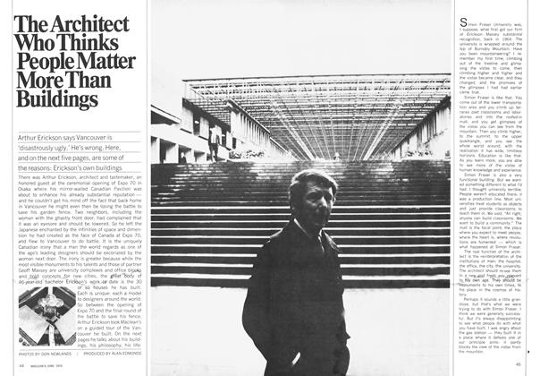 Article Preview: The Architect Who Thinks People Matter More Than Buildings, June 1970 | Maclean's