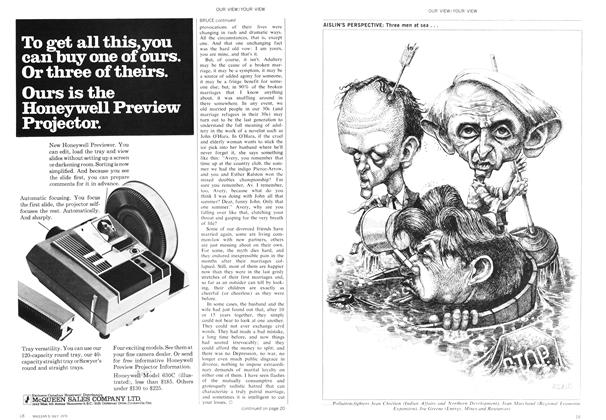 Article Preview: AISLIN'S PERSPECTIVE: Three men at sea . . ., July 1970 | Maclean's