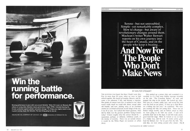 Article Preview: And Now For The People Who Don't Make News, July 1970 | Maclean's