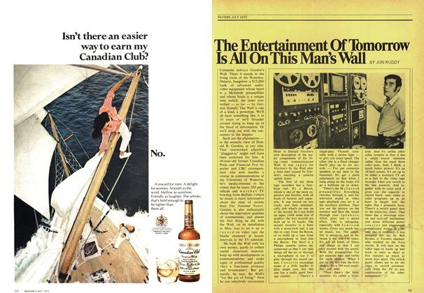 Article Preview: The Entertainment Of Tomorrow Is All On This Man's Wall, July 1970 | Maclean's