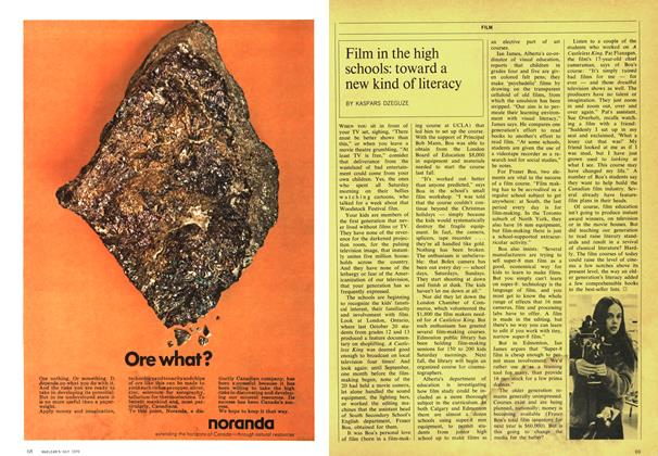Article Preview: Film in the high schools: toward a new kind of literacy, July 1970 | Maclean's