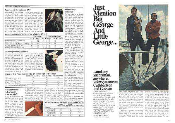 Article Preview: Just Mention Big George And Little George.. ...and any yachtsman, anywhere, knowsyoumean Cuthbertson and Cassian, August 1970 | Maclean's