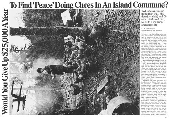 Article Preview: Would You Give Up $25,000 A Year To Find'Peace'Doing Chores In An Island Commune?, August 1970 | Maclean's