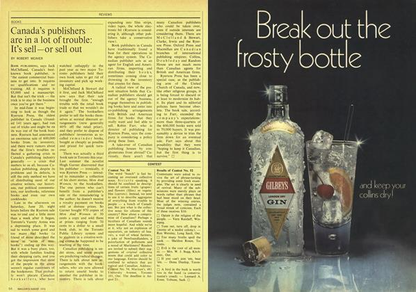 Article Preview: Canada's publishers are in a lot of trouble: It's sell—or sell out, August 1970 | Maclean's
