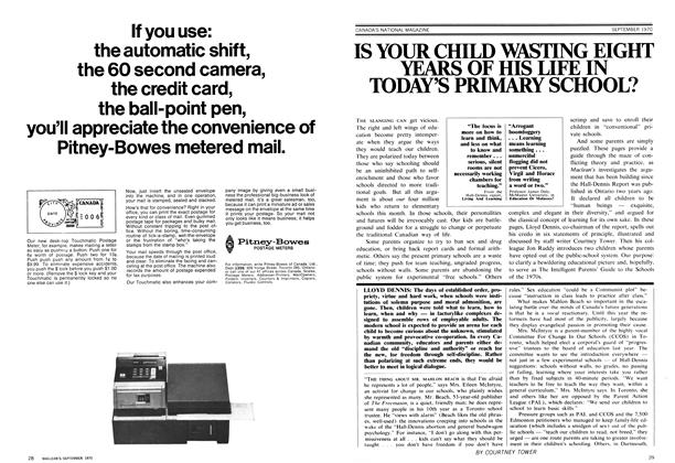 Article Preview: IS YOUR CHILD WASTING EIGHT YEARS OF HIS LIFE IN TODAY'S PRIMARY SCHOOL?, September 1970 | Maclean's