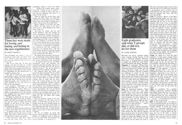 Article Preview: Eight graduates, and what T-groups did, or did not, do for them, September 1970 | Maclean's