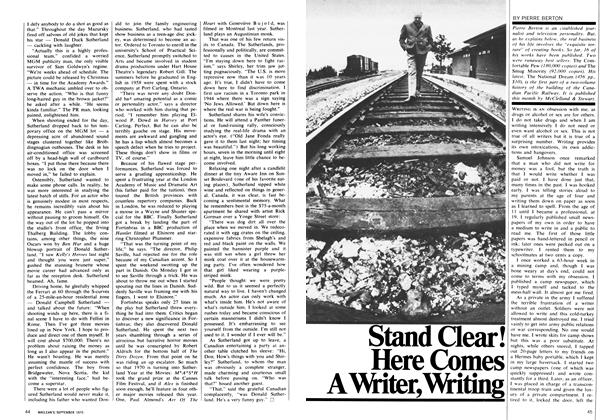 Article Preview: Stand Clear! Here Comes A Writer, Writing, September 1970 | Maclean's