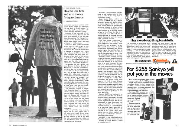 Article Preview: How to lose time and save money flying to Europe, September 1970 | Maclean's