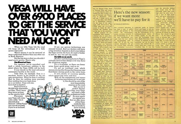 Article Preview: Here's the new season: if we want more we'll have to pay for it, September 1970 | Maclean's