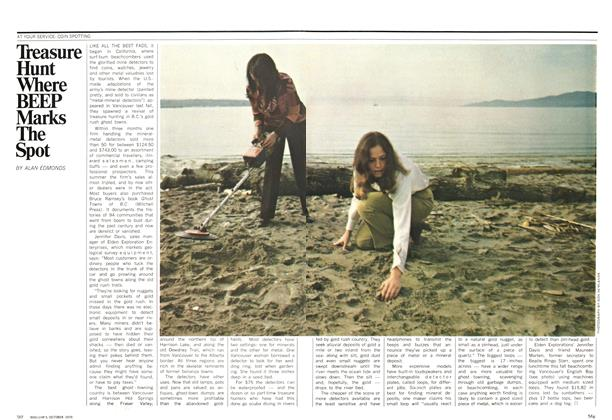 Article Preview: Treasure Hunt Where BEEP Marks The Spot, October 1970 | Maclean's
