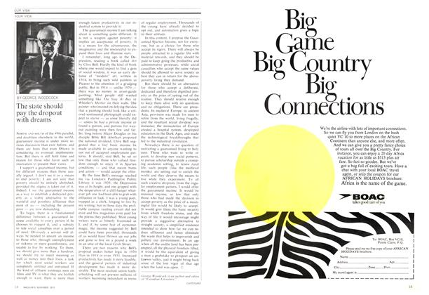 Article Preview: The state should pay the dropout with dreams, November 1970 | Maclean's