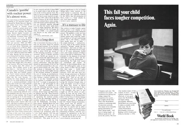 Article Preview: ...It's a menace to life, November 1970 | Maclean's