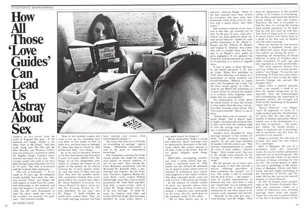Article Preview: How All Those 'Love Guide's Can Lead Us Astray About Sex, November 1970 | Maclean's