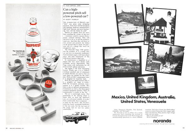 Article Preview: Can a high-powered pitch sell a low-powered car?, November 1970 | Maclean's
