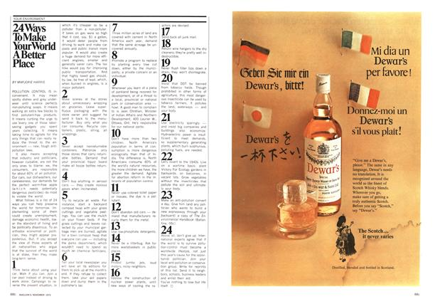 Article Preview: 24 Ways To Make Your World A Better Place, November 1970 | Maclean's
