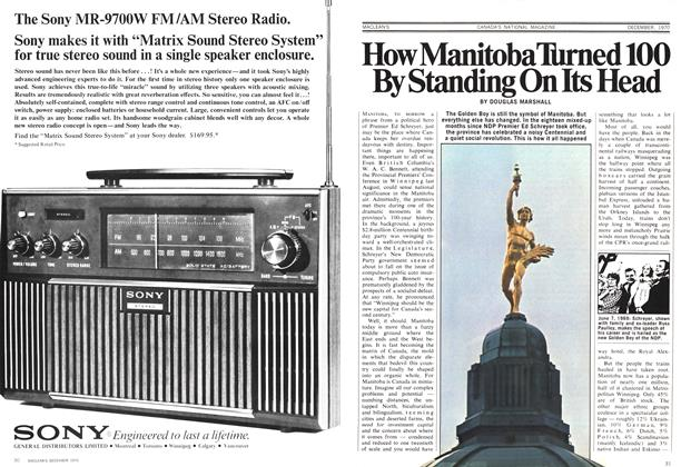 Article Preview: How Manitoba Turned 100 By Standing On Its Head, December 1970 | Maclean's