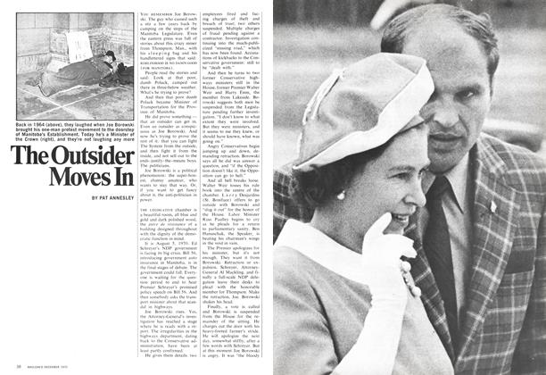 Article Preview: The Outsider Moves In, December 1970 | Maclean's