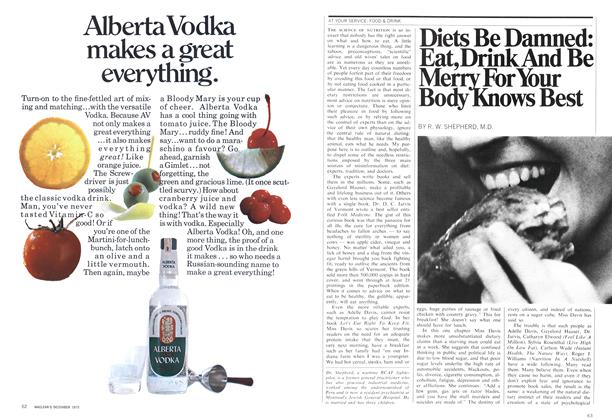 Article Preview: Diets Be Damned: Eat, Drink And Be Merry For Your Body Knows Best, December 1970 | Maclean's
