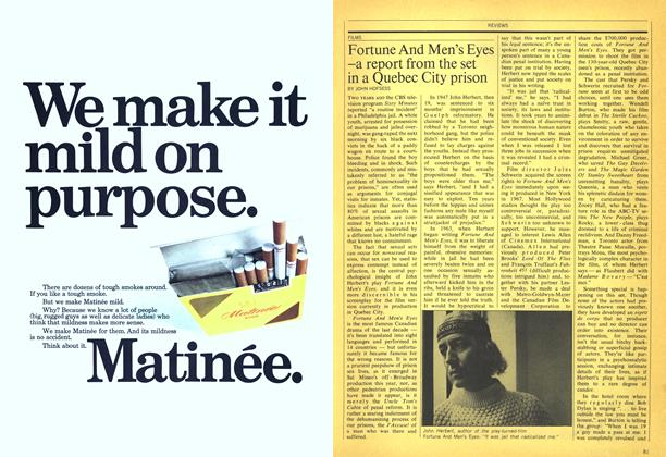 Article Preview: Fortune And Men's Eyes —a report from the set in a Quebec City prison, December 1970 | Maclean's