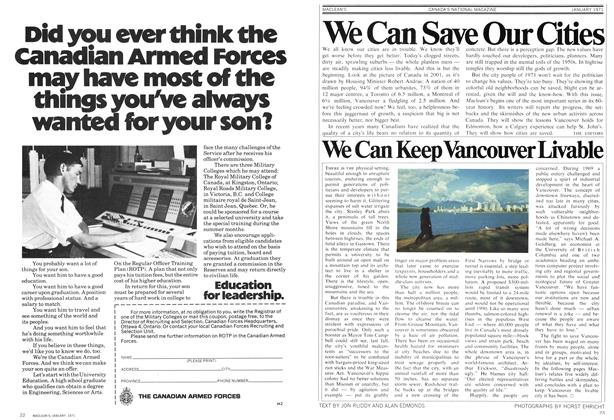 Article Preview: We Can Save Our Cities, January 1971 | Maclean's