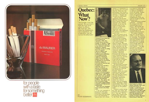 Article Preview: Quebec: What Now?, January 1971 | Maclean's