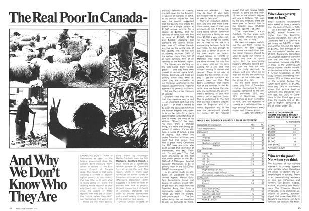 Article Preview: The Real Poor In CanadaAnd Why We Don't Know Who They Are, January 1971 | Maclean's