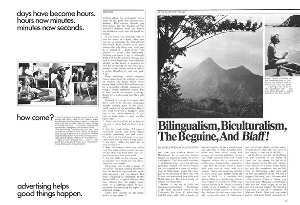 Article Preview: Bilingualism, Biculturalism, The Beguine, And Blaff!, January 1971 | Maclean's