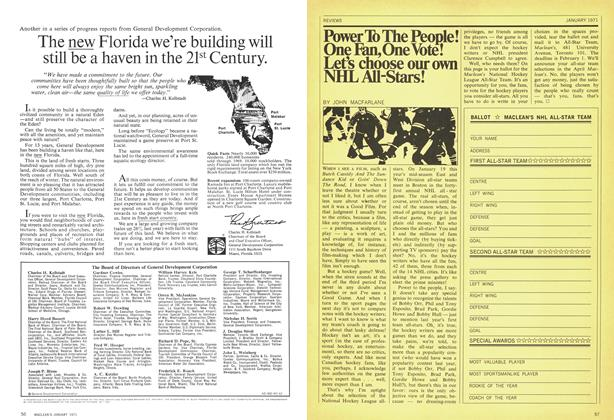 Article Preview: Power To The People! One Fan, One Vote! Let's choose our own NHL All-Stars!, January 1971 | Maclean's
