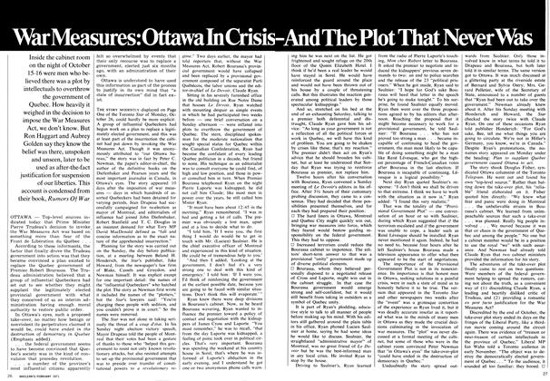 Article Preview: War Measures:Ottawa In Crisis -And The Plot That Never Was, February 1971 | Maclean's